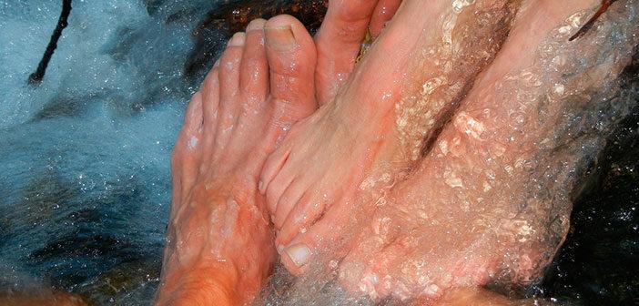 Baño relajante para pies