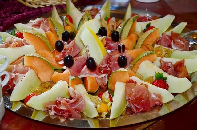 Melón y frutas